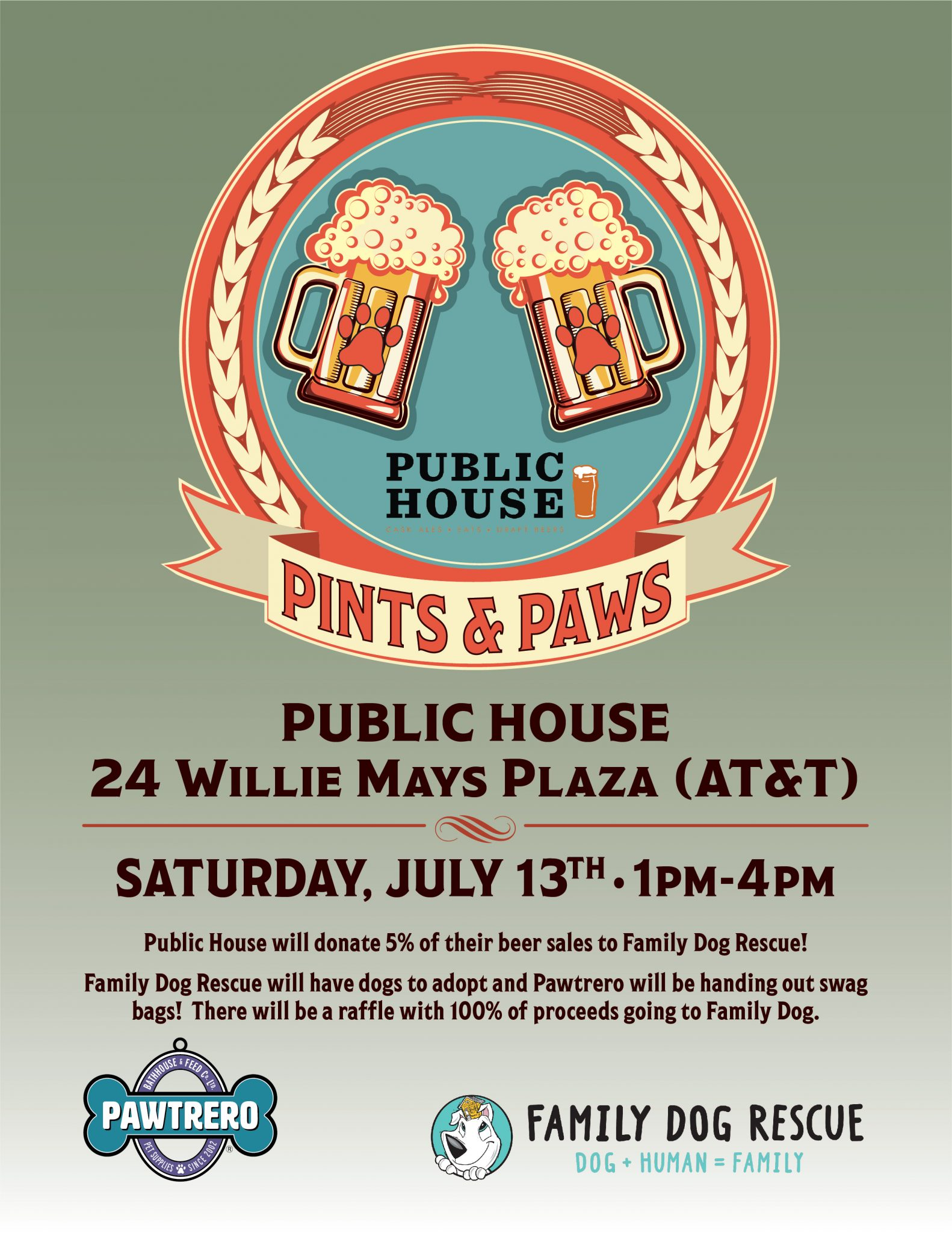 Pints and Paws at the Public House! @ Public House - Outside of the Giants Stadium