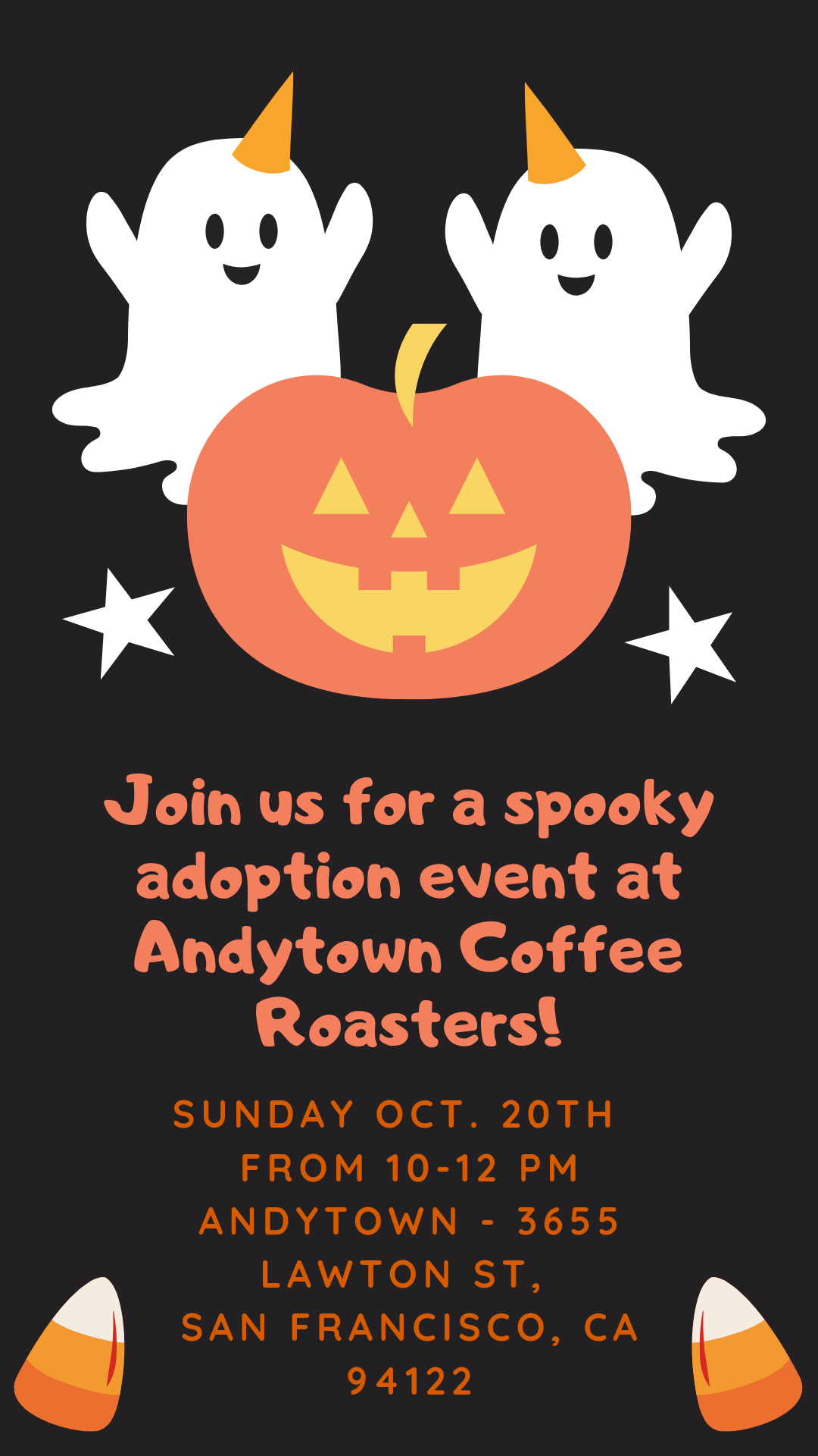 Adoption Event at Andytown Coffee Roasters! @ Andytown Coffee Roasters