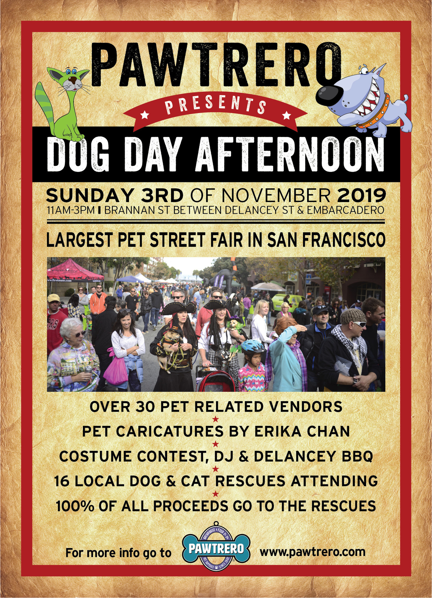 Pawtrero's Dog Day Afternoon! @ Brannan Street (between Delancey and the Embarcadero) in front of Pawtrero
