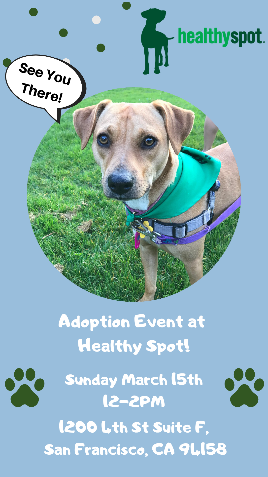 Adoption Event at Healthy Spot! @ Healthy Spot